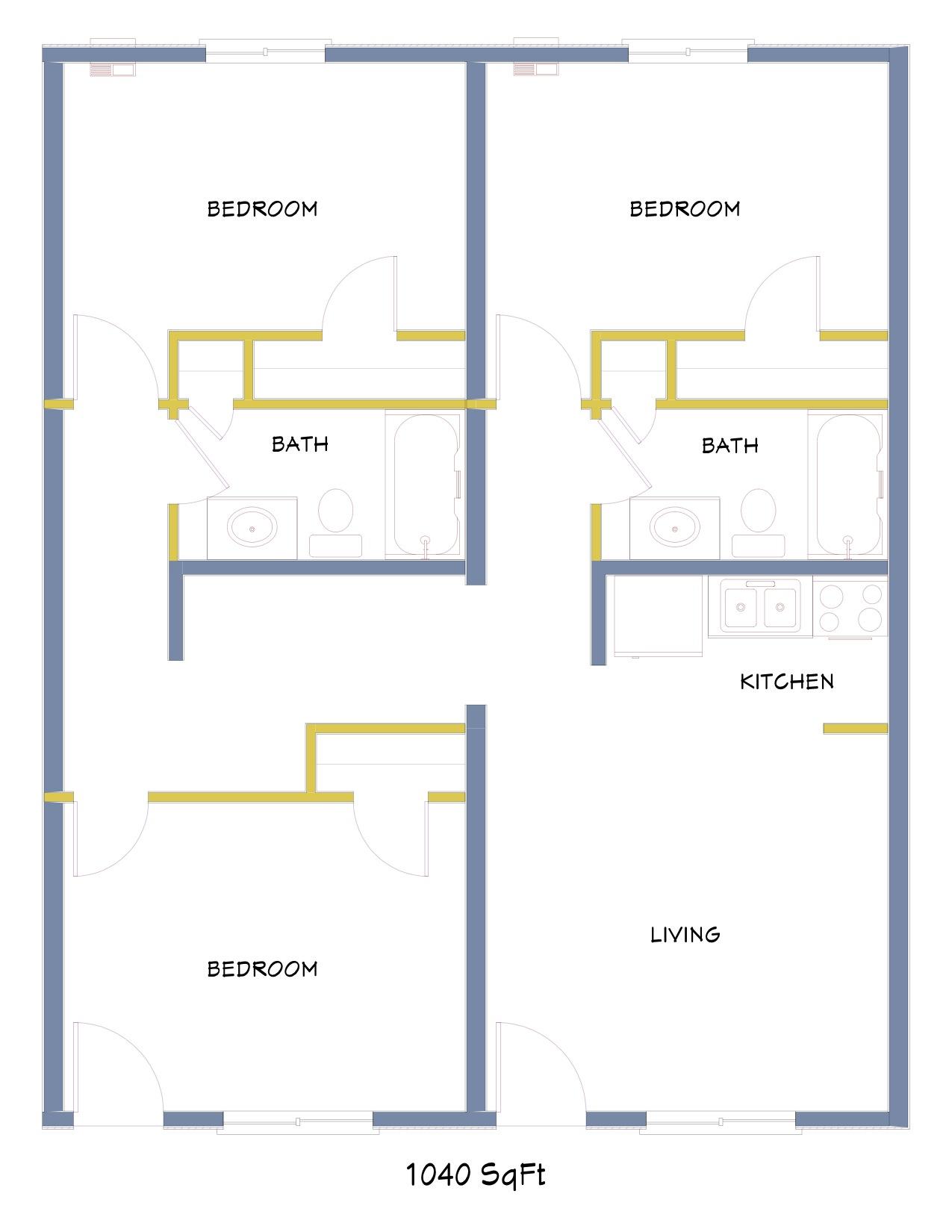 100 Azure Floor Plan Delray Modern Intracoastal