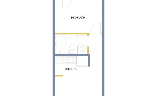 Azure-L shape Bedroom