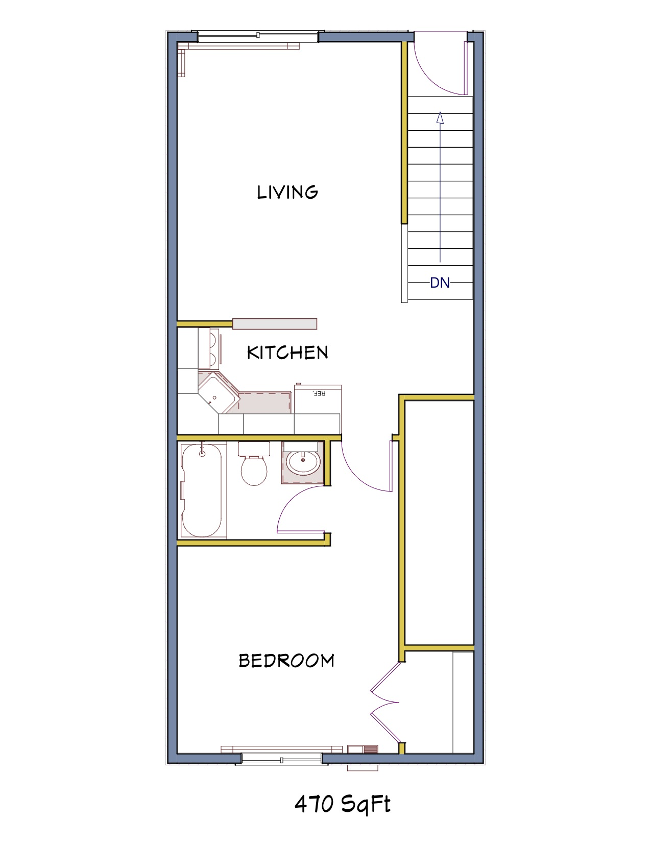100 Small 1 Bedroom Apartment Floor Plans 100 Small