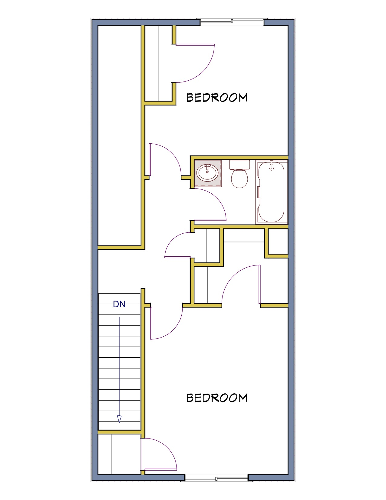 2 Bedroom Townhouse (2nd Floor)